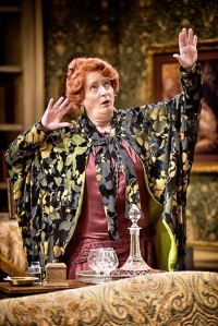Nancy Robinette, playing the sorcerer