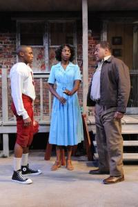 Brayden Simpson(Cory); Joy Jones (Rose) and Alan B. Jones (Troy).