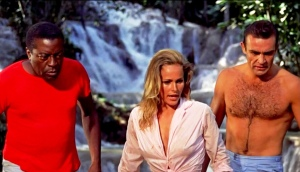John Kitzmiller, Sean Connery, Ursula Andress, in the 1962 film D. No. Photo from Flicker.com