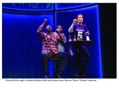 Anthony Holiday, Eddie Ray Jackson, and Jenny Mercein in the play X's & O's. Photo by Richard Anderson.