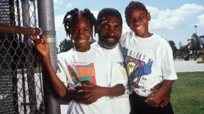 Richard Williams and his girls in the early days
