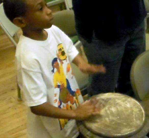 Budding drummer