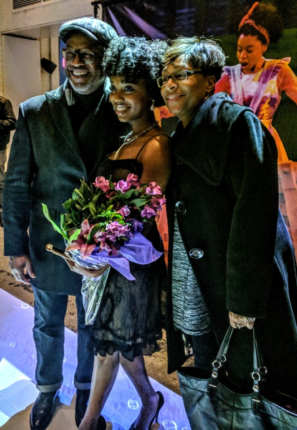 MARKITA PRESCOTT, with fans and bouquet on opening night