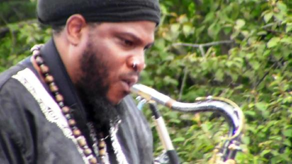Sax Sounds in the garden